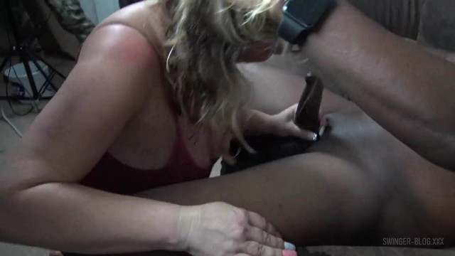Busty blonde hotties sucking and fucking a massive black cock 21