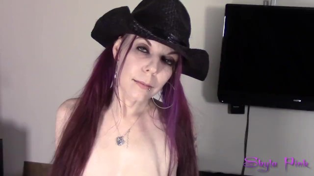 Skyla Pink little cowgirl Vs huge purple dildo solo masturbation 1