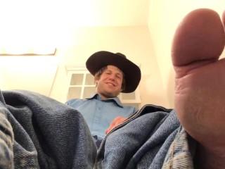 Cowboy on toilet gay foot worship pov...