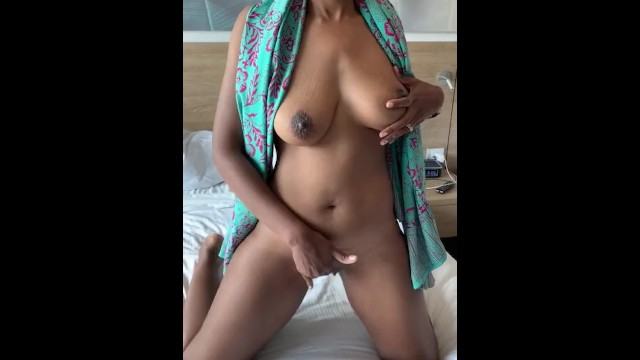 Sexy MILF caressing her clit in a hotel room 17
