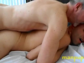 18 gay twink fucked rough by daddy nick...