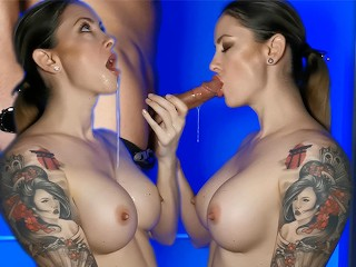 Passionate blowjob and oral creampie. Wet Kelly