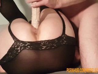 Submissive wife ass is used as a sex...