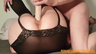 Submissive Wife with Big Ass Is Used As A Sex Toy For Fun By Her Cuckold Husband