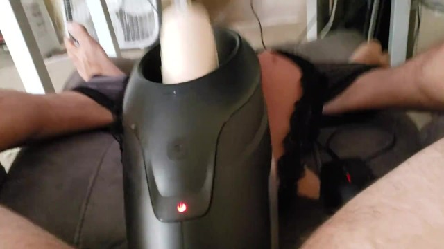 Hands free masturbation - Fleshlight launch amazing hands free fuck and moaning toe curling cumshot