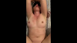 Mom tied up blindfolded gets fucked by stepson