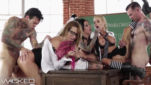 Babe sex pictures - Wickedpictures - classroom orgy led by teacher