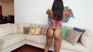 BANGBROS - Big Booty Black Housekeeper Arianna Knight Fucks For Extra Money