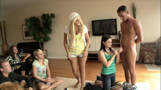 BRANDI BELLE – Group Of Girls Learn How To Suck Dick And Get Some Practice