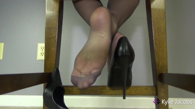 Sexy Pumps and Barely Black Nylon Soles 1
