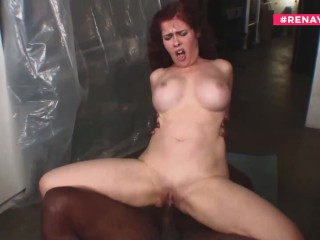 Black Cock vs REDHEAD with Monster Boobs