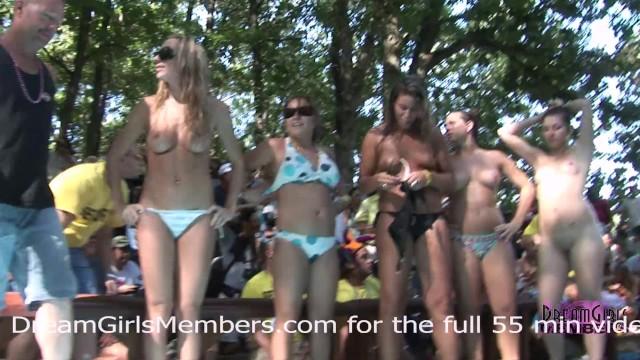 Croatia nudist resorts - Bikini contest at nudist resort gets wild everyone gets naked