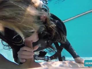 Jason and Monica fuck hard underwater