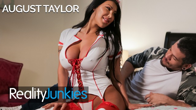 Big dick mechanics at smut junkies Reality junkies - busty latina nurse august taylor gets fucked in uniform