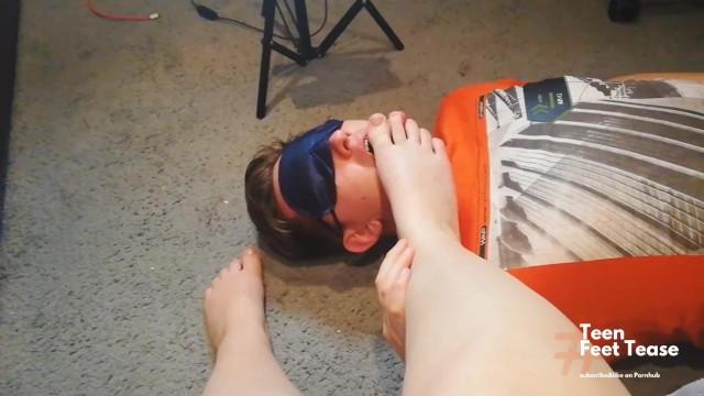 FOOT WORSHIP BOY LICKS MY SWEETY FEET AND TOES - MISTRESS FEMDOM 11