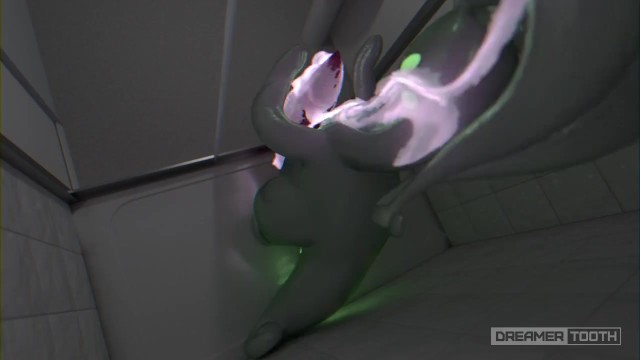 Thick uncut cock Horny goodra lights up room with his thick glowing cum pokemon
