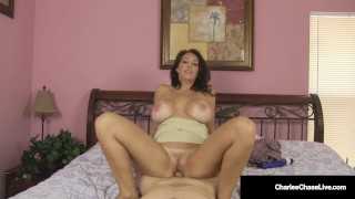Big Titty Mommy Charlee Chase Rides Cock & Milks Her Man!