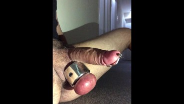 very ROUGH URETHRAL SOUNDING ** DESTROYING my BIG COCK **