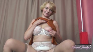 Clip AuntJudys .. 56 Year Old Auntie Aliona Sucks Your Cock and Jerks You Off