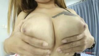 Uncensored 4K creampie with big tit Thai girl