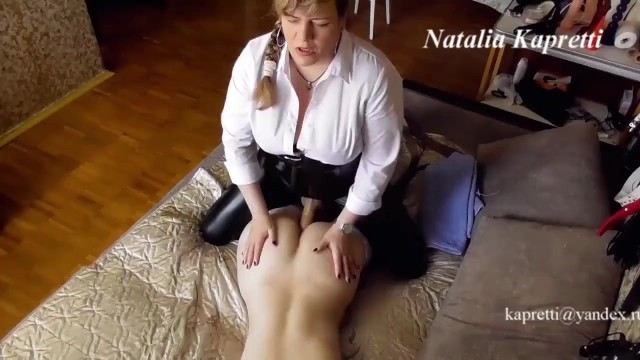 Electronic adult toys Adult lesbian fucks a girl in the ass and cums in her mouth with sperm