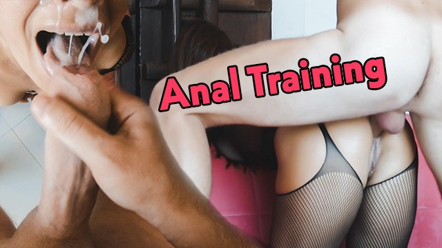 Spartito the heart asks the pleasure first - My very first time anal ever - fitness girl gets fucked hard in her ass