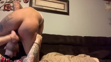 GF rides my face and drowns me in squirt!!