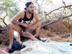 Banging Big Dick in Bushes, Boyfriend Smashes Ass and Rims Relentlessly