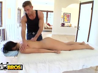 Gets sensual massage...