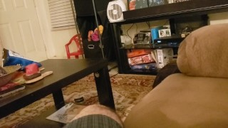 Hot wife swallows my load after another night at the strip club!