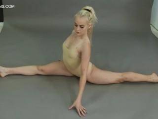 Flexible gymnast naked...