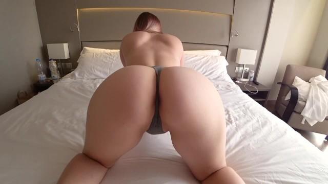 Ass booty butt pantie thong undies Girlfriend with big ass fucks thong in hotel room