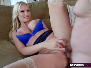 """""""I Realized He Had A Step Mom Crush Going On"""" Taking Care Of Busty Step Mom"""