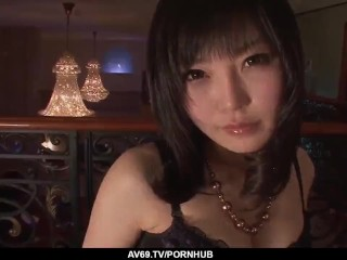 Japanese lingerie porn and soft oral by hikaru...