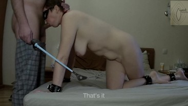 Mature wife cum hands free twice while suck master's cock