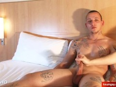 Real straight boxer gets wanked his big dick in spite of him: Igor