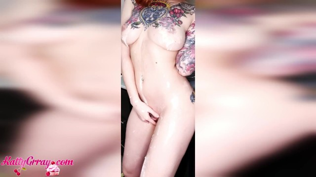Friedchicken breast Big booty girl fry pancakes naked - sensual solo