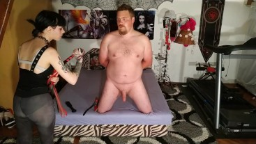 Cock whipping & spanking CBT for my slave HD UNCUT