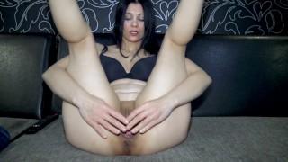 Russian Beauty Kristina shows a gaping vagina