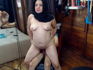 Arabic sexy couple fuck harder and gets milk...
