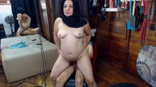 arabic sexy couple fuck harder and gets milk