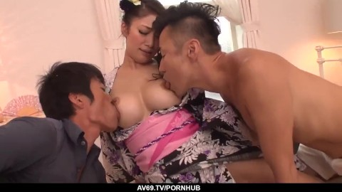 Mature big tit housewives sucking two black cocks at once Two Guys Sucking Tits Porn Videos Pornhub Com