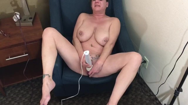 Big tit mom has creamy cum with her dildo 10