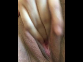 So horny I put 4 fingers in my pussy till I squirted!