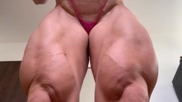 fbb huge legs quads flexing