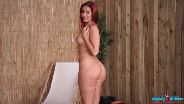 Hot Red Head Strips Naked At Your Garden Party 2