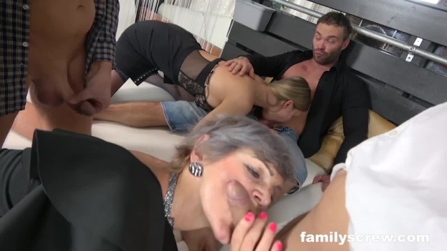 Swinger by - Swinger family cums by the club