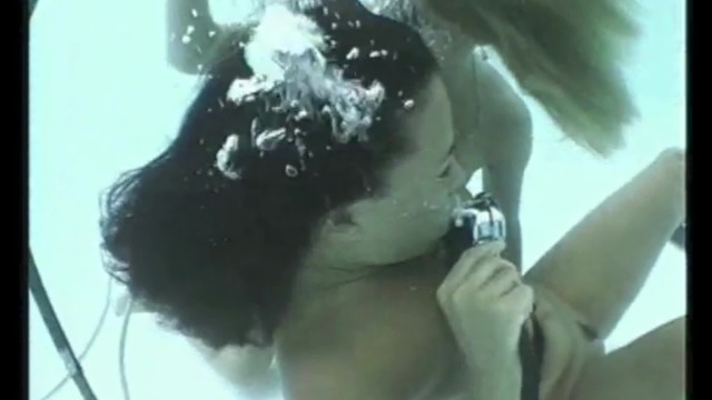 Sexy Blonde and Brunette Underwater in Swimming Pool Scuba Diving PART 7 16