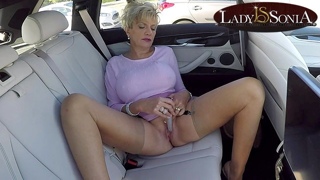 Free raw porn lady sonia - Busty mature lady sonia masturbates in her car