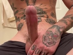 Hot Tattooed Stud Gets Bored And Cums